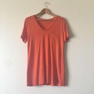 T by Alexander Wang Tops - T by Alexander wang orange t shirt top size medium
